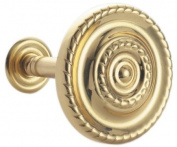 Large Brass Regency Curtain Fabric Holdback / Tieback Hook Sold In Pairs