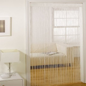 Majorca String Door Curtain Panel, Cream, 90 x 200 Cm