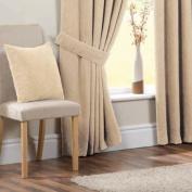 Chenille Spot Curtain Tie Backs, Cream