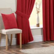 Chenille Spot Curtain Tie Backs, Red