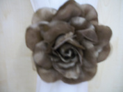 Large Mocha Brown Flower Curtain/Voile Clip Tie Back Clasp Holder