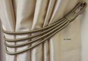 STUNNING SAGE GREEN THICK LARGE CORD BANDED CURTAIN DRAPE TIE BACK TIEBACK 80cm