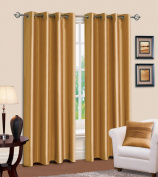 Plain Faux Silk Fully Lined Ready Made Ring Top/Eyelet Curtains
