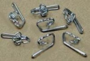 Zink plated curtain hooks. Pack of 1000