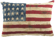 Evans Lichfield Stars and Stripes Tapestry Cushion, 46cm x 33cm , Polyester Fibre Filled