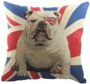 Evans Lichfield Union Jack Winston Tapestry (Filled) Cushion, 46cm x 46cm