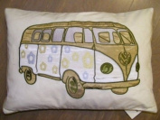 Carnaby Camper Van Cushion Cover, Green, 35 x 50 Cm