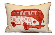 Carnaby Camper Van Cushion Cover, Copper, 35 x 50 Cm
