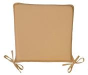 Pair Of Plain Dyed Cream Seat Pad 42x37cm