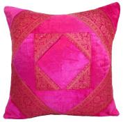 60cm Velvet Brocade Cushion Cover Pink