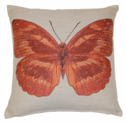 Papillon Embroidered Butterfly Cushion Cover 45x45cm (18inch) Terracotta