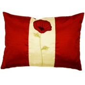 Poppet Cushion Cover, Red/Cream, 30 x 50 Cm