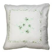 Vintage Filled Cushion, Green, 40 x 40 Cm