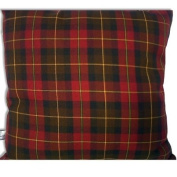 Burgundy with Brown Tartan Cheque Cushion Cover