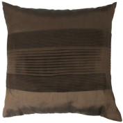 """Faux Silk Oxford Stripe Chocolate Cushion Cover 18"""" x 18"""" / 45cm x 45cm Square Designer Silk Fabric by Quality Linen and Towels"""