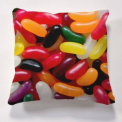 Scatter Cushions, Iconic Jelly Bean Cushion & insert, Beautiful printed Designer cushion 43cm x 43cm The perfect gift