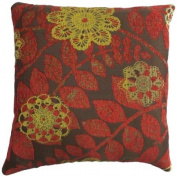 """Plazo Red Cushion Cover 18"""" x 18"""" / 45cm x 45cm Square Designer Chenille Fabric by Quality Linen and Towels"""