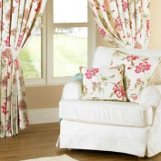 Ascot Piped Cushion Cover, Floral/Stripe, 45 x 45 Cm