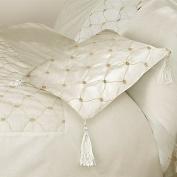 Charlotte Thomas Cassandra Cushion Cover, Ivory/Beige, 40 x 40 Cm