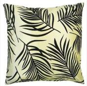 Fern Cushion Cover, Cream/Black, 45 x 45 Cm