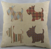 Scottie Dogs Luxury Tapestry Front Cushion - 46cm Made In The UK