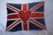 Vintage Velvet Feather Filled Union Jack Cushion