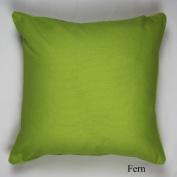 """Best Quality Plain Dyed 100% Cotton Cushion Cover Size 18"""" x 18""""(45 x 45cm) Colour Fern"""