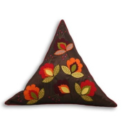 Jaipur Indian Triangle Cushion Cover, Brown/Red, 60 x 60 x 60 Cm
