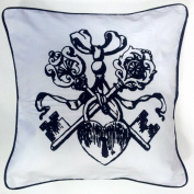 Luxury 100% Cotton Cushion Covers - Lock and Key- By Adamlinens