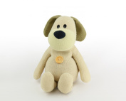 Microwaveable Warmer Knitted Beany Belly Beige Puppy