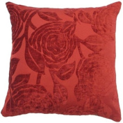 """Baleno Red Cushion Cover 18"""" x 18"""" / 45cm x 45cm Square Designer Chenille Fabric by Quality Linen and Towels"""