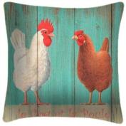 Coq Et Poule - Martin Wiscombe - Art Print Cushion