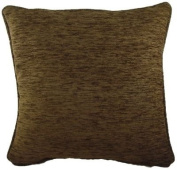 Evans Lichfield Savannah Chenille Cushion - Brown 60cm x 60cm Quality Cushions