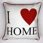 Luxury 100% Cotton Cushions - I love my home - By Adamlinens