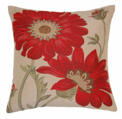 Nancy Red Floral Cushion Cover 45x45cm