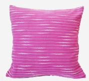 "16"" 40cm Hand Woven Fancy Yarn Cotton Cushion Cover Lilac"