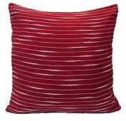 "16"" 40cm Hand Woven Fancy Yarn Cotton Cushion Cover Maroon"