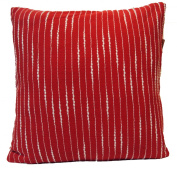 """16"""" 40cm Hand Woven Fancy Yarn Cotton Cushion Cover Red"""