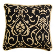 60cm florence Black chenille cushion cover