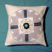 African Circle Designed Cushion Cover.