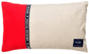 "American Freshman ""Hudson Red"" scatter Cushion 30x50cm - Red & Beige"