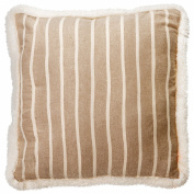 "American Freshman ""Seattle"" Bedding - Beige & Cream Striped ""Mason"" Cushion"