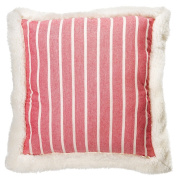 "American Freshman Hamilton - ""Mason"" Red & Cream Scatter Cushion"