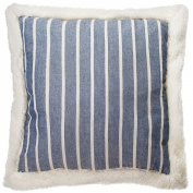 "American Freshman Lenox Bedding - Blue & Cream Stripe ""Mason"" Scatter Cushion"