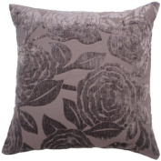 """Baleno Aubergine Cushion Cover 18"""" x 18"""" / 45cm x 45cm Square Designer Chenille Fabric by Quality Linen and Towels"""