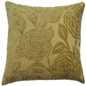 """Baleno Beige Cushion Cover 18"""" x 18"""" / 45cm x 45cm Square Designer Chenille Fabric by Quality Linen and Towels"""