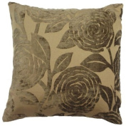 """Baleno Brown Cushion Cover 18"""" x 18"""" / 45cm x 45cm Square Designer Chenille Fabric by Quality Linen and Towels"""