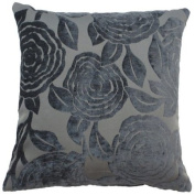 """Baleno Grey Cushion Cover 18"""" x 18"""" / 45cm x 45cm Square Designer Chenille Fabric by Quality Linen and Towels"""