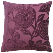 """Baleno Purple Cushion Cover 18"""" x 18"""" / 45cm x 45cm Square Designer Chenille Fabric by Quality Linen and Towels"""
