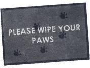 Wipe Your Paws Turtle mat cotton design 60 X 85cm